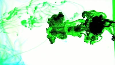 Green Ink in Water