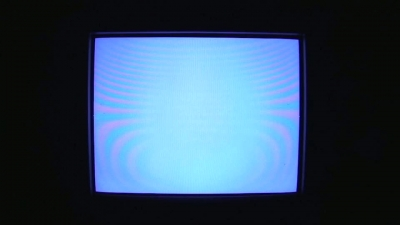TV Distortion Blue