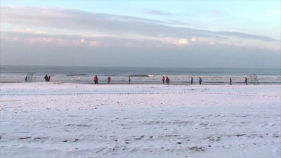 Winter Beach Footbal